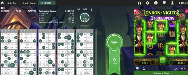 Unibet Bingo en mini games